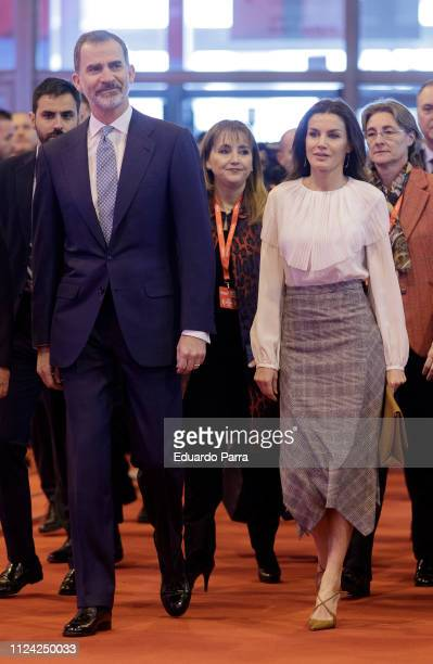 King Felipe VI of Spain and Queen Letizia of Spain attend FITUR fair at Ifema on January 23 2019 in Madrid Spain