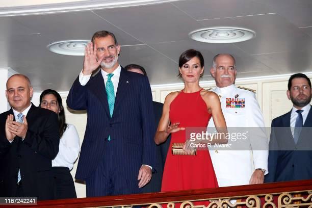 King Felipe VI of Spain and Queen Letizia of Spain attend 'Gala de Danza' at Alicia Alonso Gran Theater on November 12, 2019 in La Havana, Cuba. King...