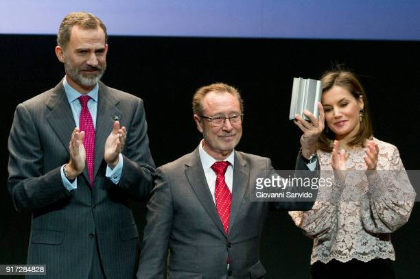 King Felipe VI of Spain and Queen Letizia of Spain attend Innovation and Design Awards 2017 at Teatro del Bosque on February 12 2018 in Madrid Spain