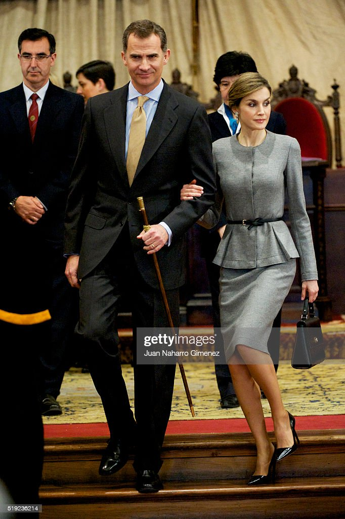 Spanish Royals Attends Investiture Of Honorary Doctors By Salamanca's University : News Photo