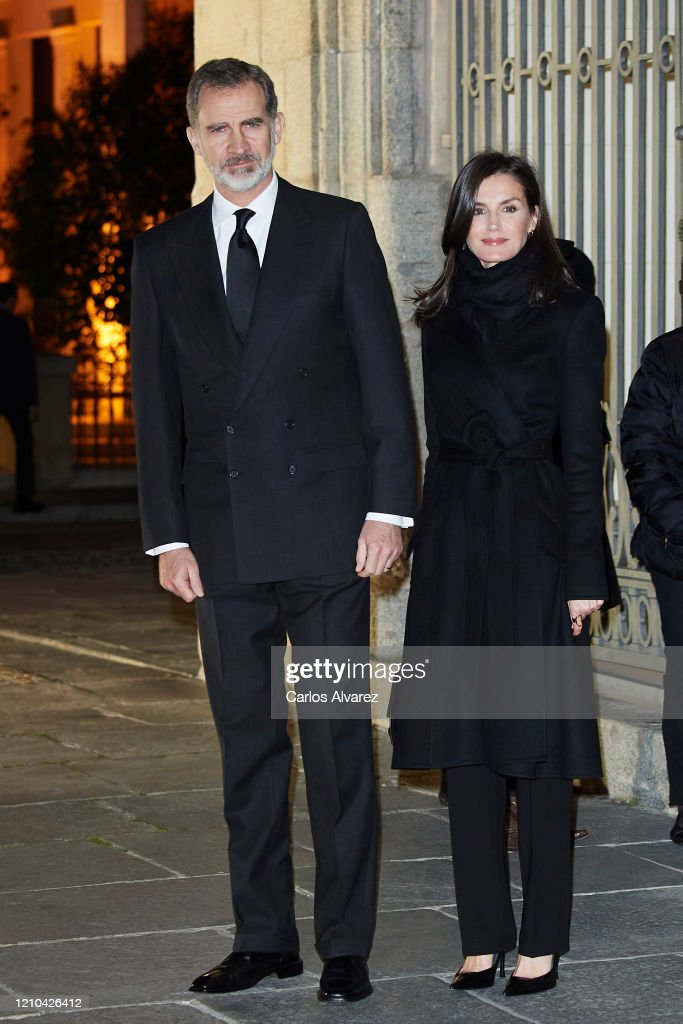 Spanish Royals Attend Placido Arango's Funeral : News Photo
