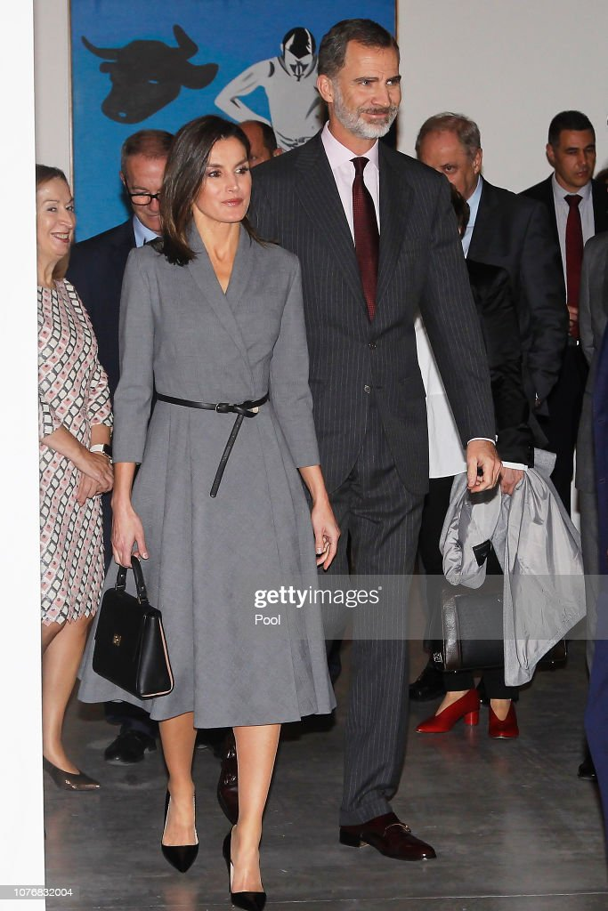 Spanish Royals Inaugurate An Exhibition To Commemorate The Anniversary Of The Democracy : News Photo