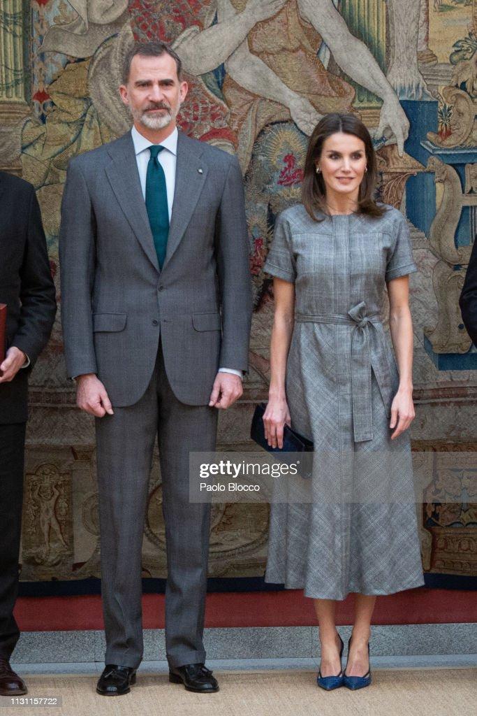 Spanish Royals Deliver 'Premios Nacionales De Investigacion' 2018 : News Photo