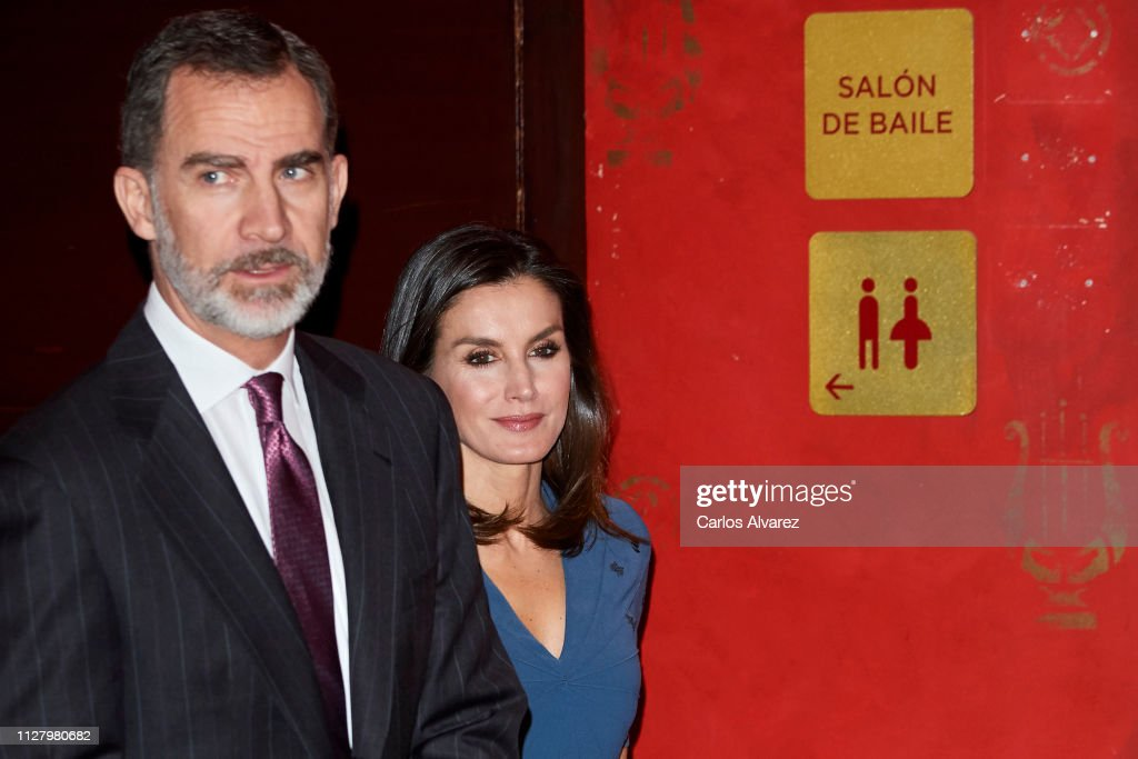 ESP: Spanish Royals Meet Royal Theatre Foundation in Madrid