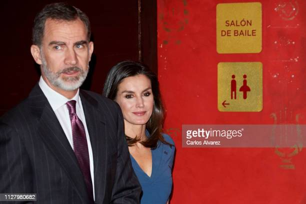 King Felipe VI of Spain and Queen Letizia of Spain attend Royal Theatre Foundation meeting on February 07 2019 in Madrid Spain