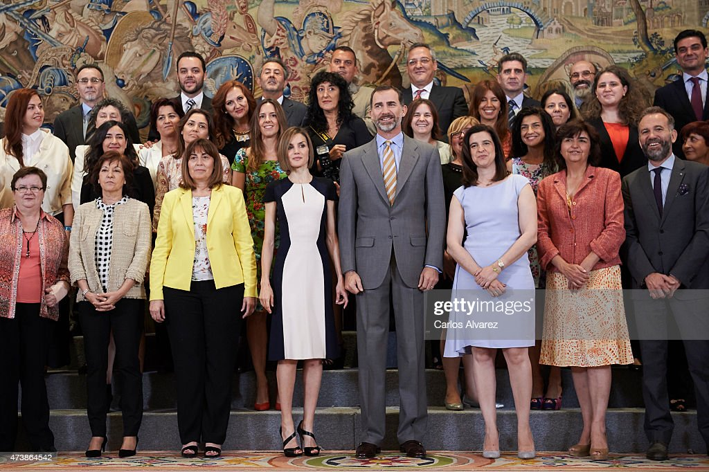 Spanish Royals Attend Audiences in Zarzuela Palace : News Photo
