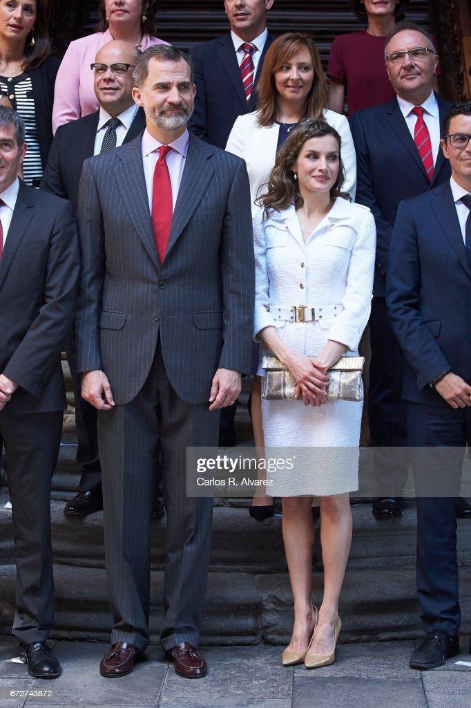 Spanish Royals Visit Tenerife : News Photo