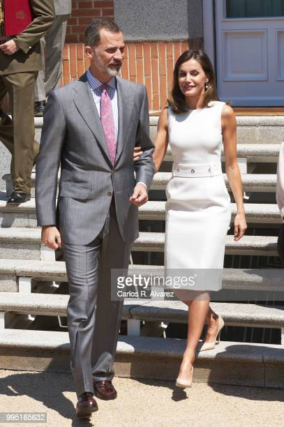 King Felipe VI of Spain attends several audiences at Zarzuela Palace on July 10 2018 in Madrid Spain