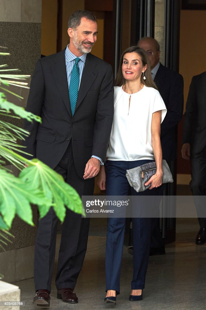 Spanish Royals Visit The 016 Telefonic Hotline Central For Gender Violence Assistance : News Photo