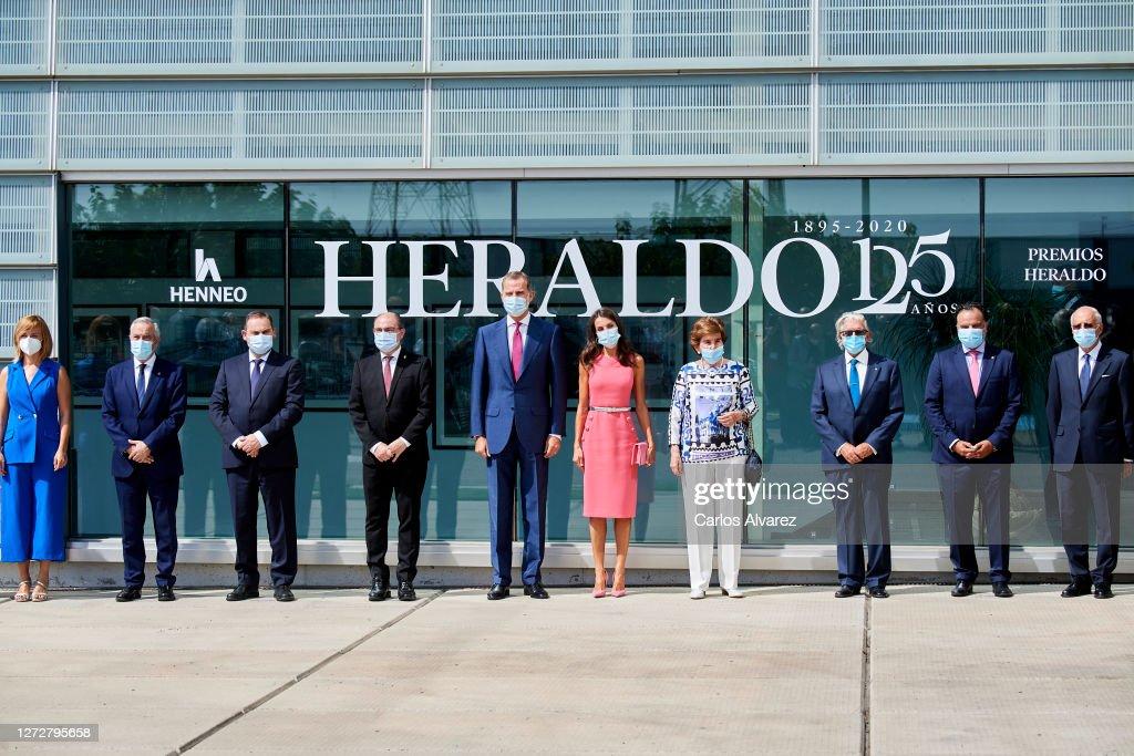 Spanish Royals Celebrate 125th Anniversary Of 'El Heraldo De Aragon' Newspaper : News Photo