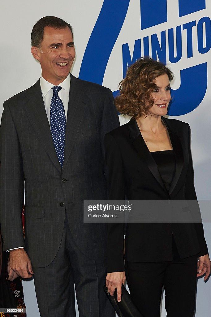 Spanish Royals Attend '20 Minutos' Newspaper 15th Anniversary : News Photo