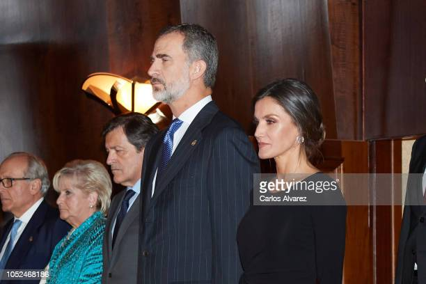 King Felipe VI of Spain and Queen Letizia of Spain attend the 27th Princess of Asturias Awards Concert atÊPrince Felipe Auditorium on October 18 2018...