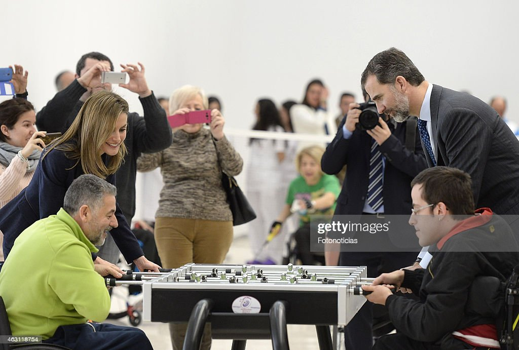 King Felipe VI and Queen Letizia Attend the National Paraplegics Hospital 40th Anniversary : News Photo