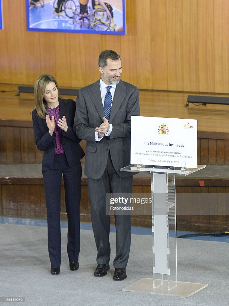 King Felipe VI and Queen Letizia Attend the National Paraplegics Hospital 40th Anniversary : Fotografia de notícias