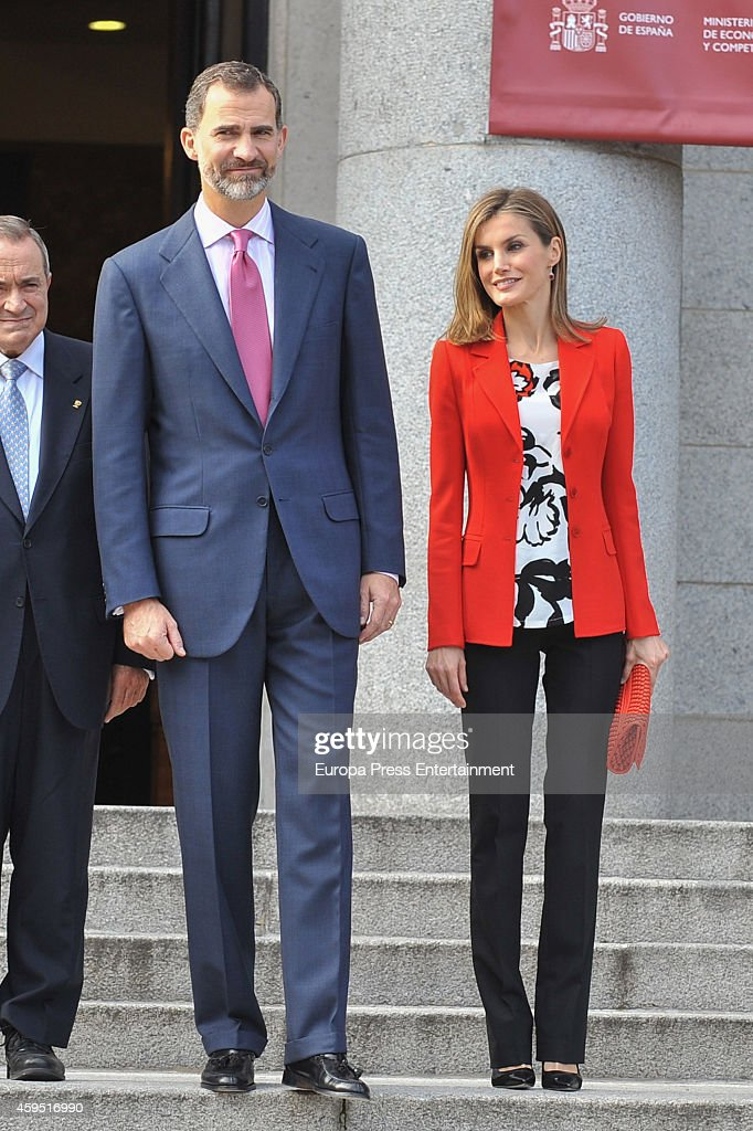 King Felipe VI of Spain and Queen Letizia of Spain attend the 75th aniversary of CSIC at CSIC headquarters on November 24, 2014 in Madrid, Spain.