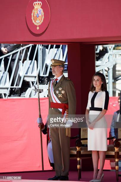 King Felipe VI of Spain and Queen Letizia of Spain attend the act of commemoration for the 175th Anniversary of The Civil Guards Foundation at The...