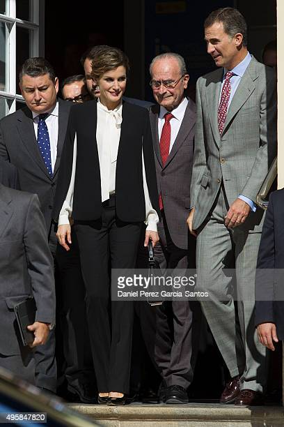King Felipe VI of Spain and Queen Letizia of Spain attend the National Innovation and Design Awards 2015 on November 5 2015 in Malaga Spain
