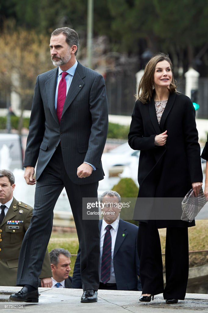 King Felipe VI of Spain and Queen Letizia of Spain attend the 'Innovation and Design' awards 2017 at El Bosque Theater on February 12, 2018 in Mostoles, Spain.