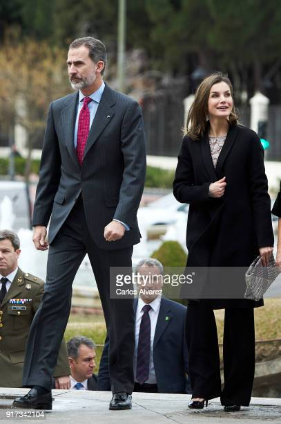King Felipe VI of Spain and Queen Letizia of Spain attend the 'Innovation and Design' awards 2017 at El Bosque Theater on February 12 2018 in...