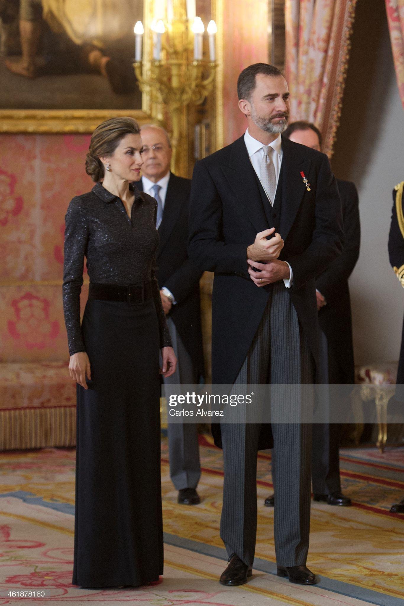 King Felipe VI of Spain Receive New Ambassadors in Madrid : News Photo