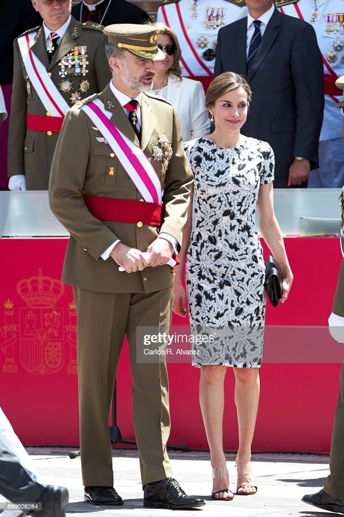 Spanish Royals Attend Armed Forces Day 2017 : News Photo
