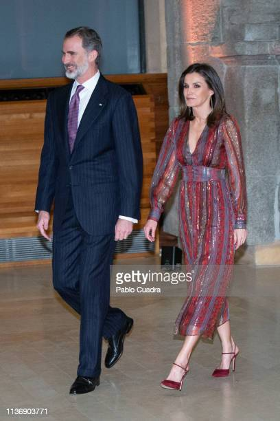 King Felipe VI of Spain and Queen Letizia of Spain attend the National Culture Awards at El Prado Museum on March 19 2019 in Madrid Spain