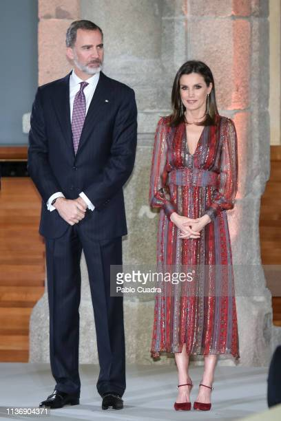 King Felipe VI of Spain and Queen Letizia of Spain attend the National Culture Awards at El Prado Museum on March 19, 2019 in Madrid, Spain.