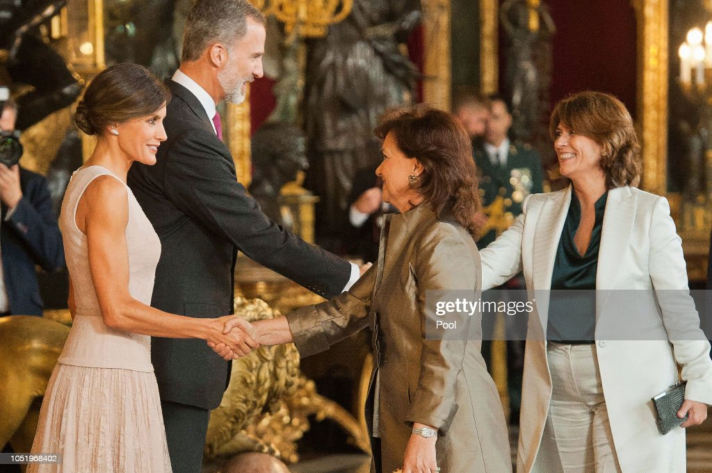 Spanish Royals Attend The National Day Reception : News Photo
