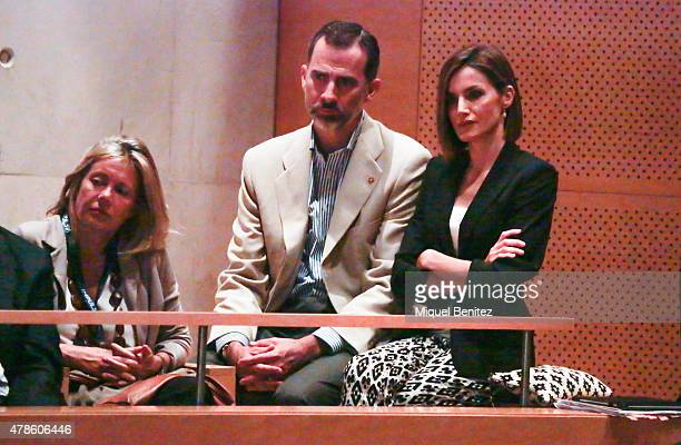 King Felipe VI of Spain and Queen Letizia of Spain attend the 'Forum Impulsa' at the Auditori of Girona on June 26 2015 in Girona Spain