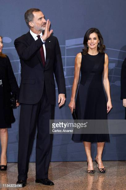 King Felipe VI of Spain and Queen Letizia of Spain attend the 'In Memoriam' concert at the National Auditorium on March 07, 2019 in Madrid, Spain.