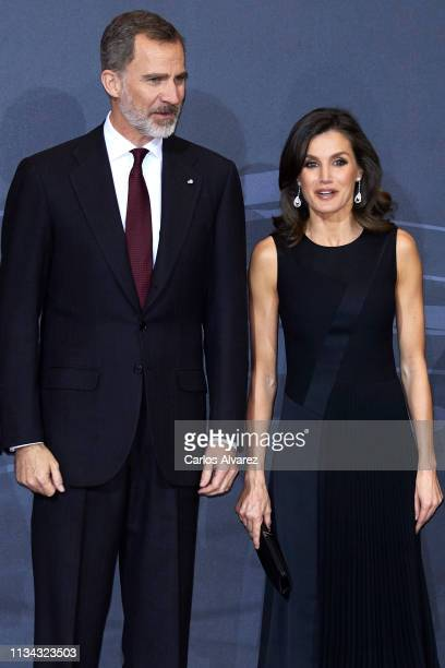 King Felipe VI of Spain and Queen Letizia of Spain attend the 'In Memoriam' concert at the National Auditorium on March 07 2019 in Madrid Spain