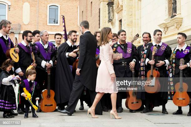 King Felipe VI of Spain and Queen Letizia of Spain attend the 'Miguel de Cervantes 2017Õ Award given to Nicaraguan author Sergio Ramirez at the...