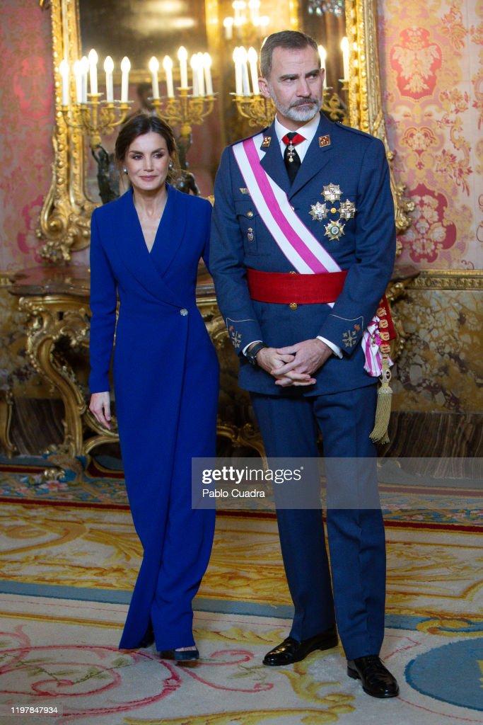 Spanish Royals Celebrate New Year's Military Parade 2020 : Foto di attualità