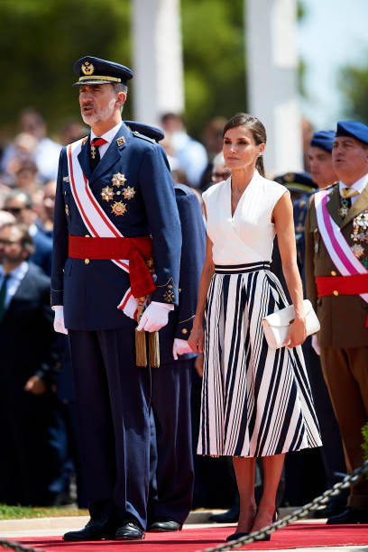 ESP: Spanish Royals Attend a Military Event in Murcia