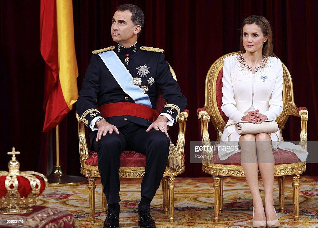 The Coronation Of King Felipe VI And Queen Letizia Of Spain : News Photo