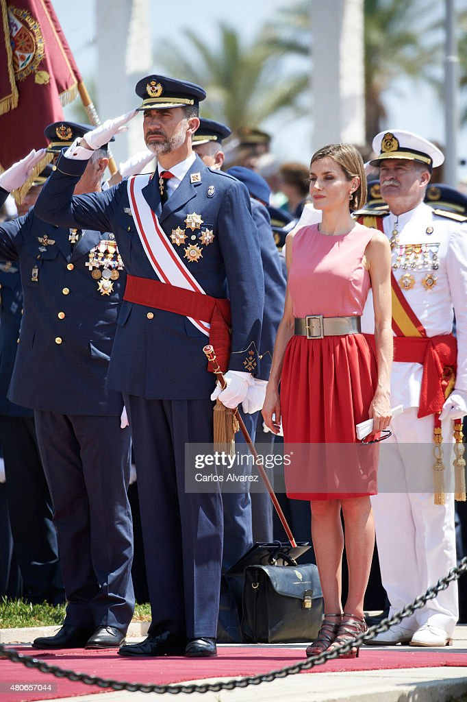 Spanish Royals Attend a Military Event in Murcia : News Photo
