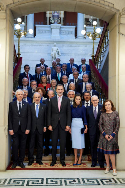 ESP: Spanish Royals Attend The Presidency of the Plenary Of The Spanish Royal Academy