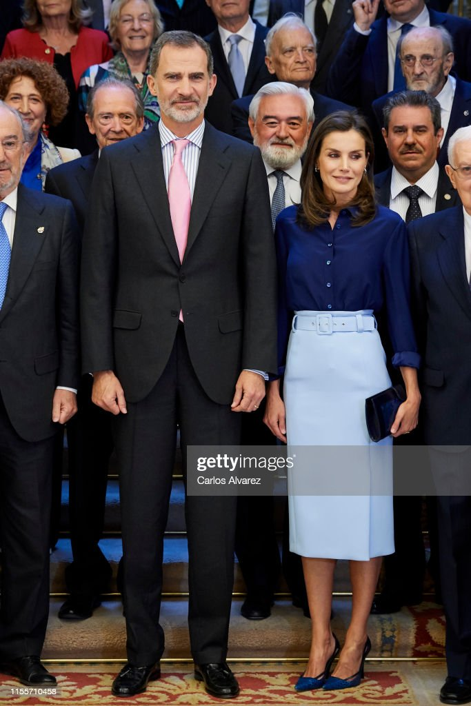 Spanish Royals Attend The Presidency of the Plenary Of The Spanish Royal Academy : News Photo