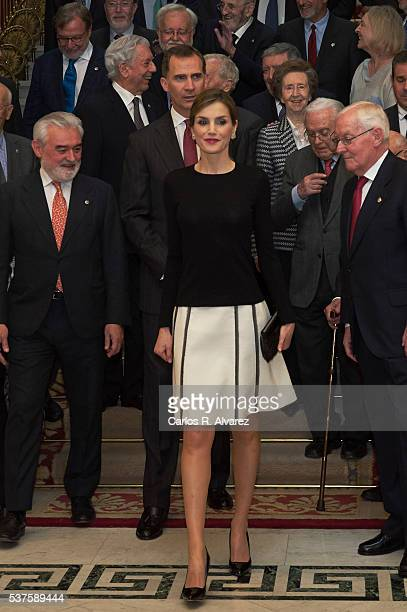 King Felipe VI of Spain and Queen Letizia of Spain attend the Presidency of the Plenary of the Spanish Royal Academy of Language 'RAE' on June 2 2016...