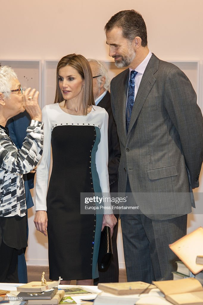 King Felipe VI of Spain and Queen Letizia of Spain attend the opening of the International Contemporary Art Fair ARCO 2015 at Ifema on February 26, 2015 in Madrid, Spain.