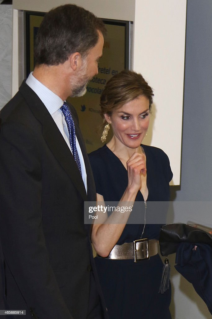 Spanish Royals Attend the Opening of Teresa de Jesus Exhibition : News Photo