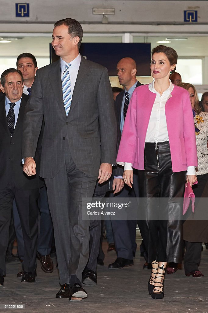 King Felipe VI of Spain and Queen Letizia of Spain attend the opening of ARCO 2016 at Ifema on February 25, 2016 in Madrid, Spain.