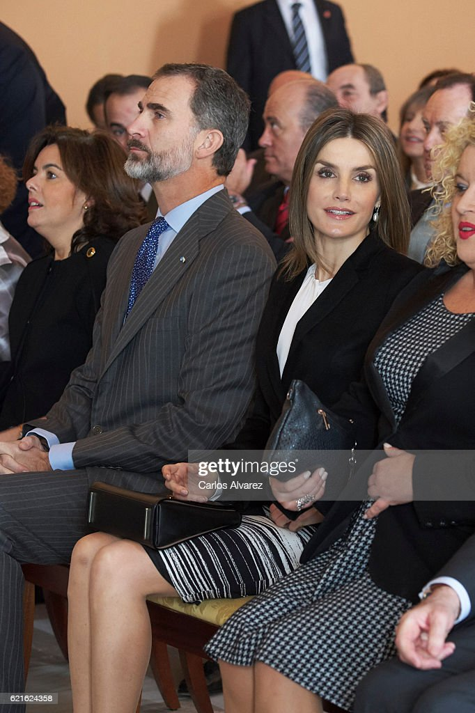 Spanish Royals Attend Opening Session Of 'International Symposium About Carlos III' : News Photo