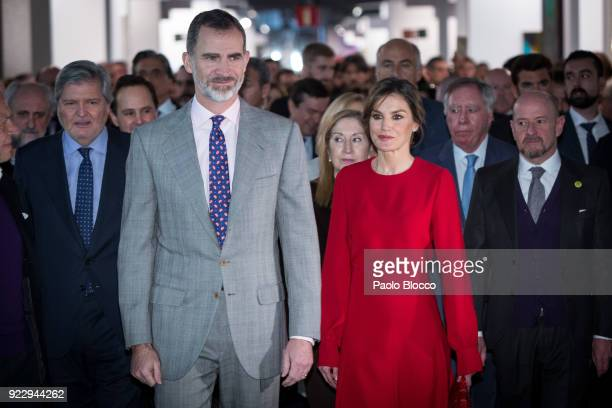 King Felipe VI of Spain and Queen Letizia of Spain attend the opening of ARCO 2018 at Ifema on February 22 2018 in Madrid Spain