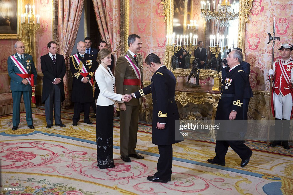 Spanish Royals Celebrate New Year's Military Parade 2016 : News Photo
