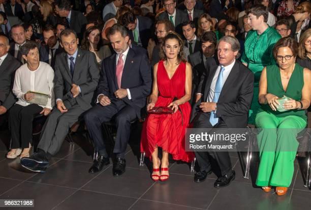 King Felipe VI of Spain and Queen Letizia of Spain attend the Premios Fundacion Princesa de Girona on June 28 2018 in Girona Spain