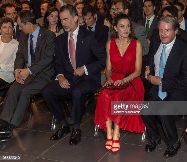 King Felipe VI of Spain and Queen Letizia of Spain attend the Premios Fundacion Princesa de Girona on June 28 2018 in Girona Spain