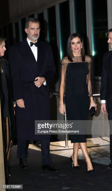 King Felipe VI of Spain and Queen Letizia of Spain attends 98th annual ABC International Journalism Awards at Casa de ABC on December 03 2019 in...