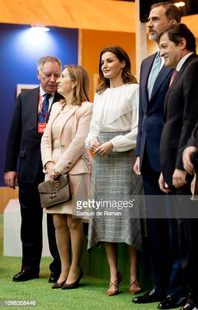 King Felipe VI of Spain and Queen Letizia of Spain attends FITUR fair at Ifema on January 23 2019 in Madrid Spain