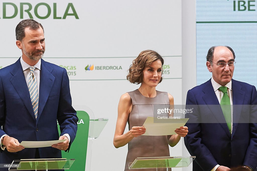 Spanish Royals Attend The Delivery Of Iberdrola Foundation Scholarships : News Photo